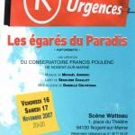 Création Livret d'opérette SEGOLENE CHAILLEY DRAMATURGE