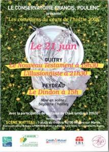 L'Illusionniste, le Nouveau Testament de Sacha GUITRY, et le Dindon de Georges FEYDEAU à la Scène Watteau