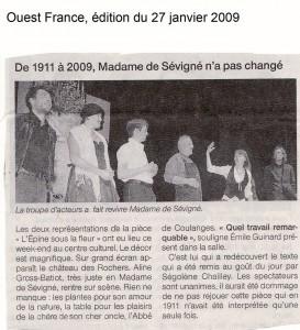 article pru dans Ouest france en 2009