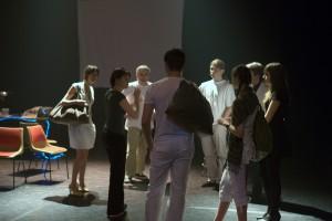 Ségolène Chailley et les comédiens du cours adultes Conservatoire