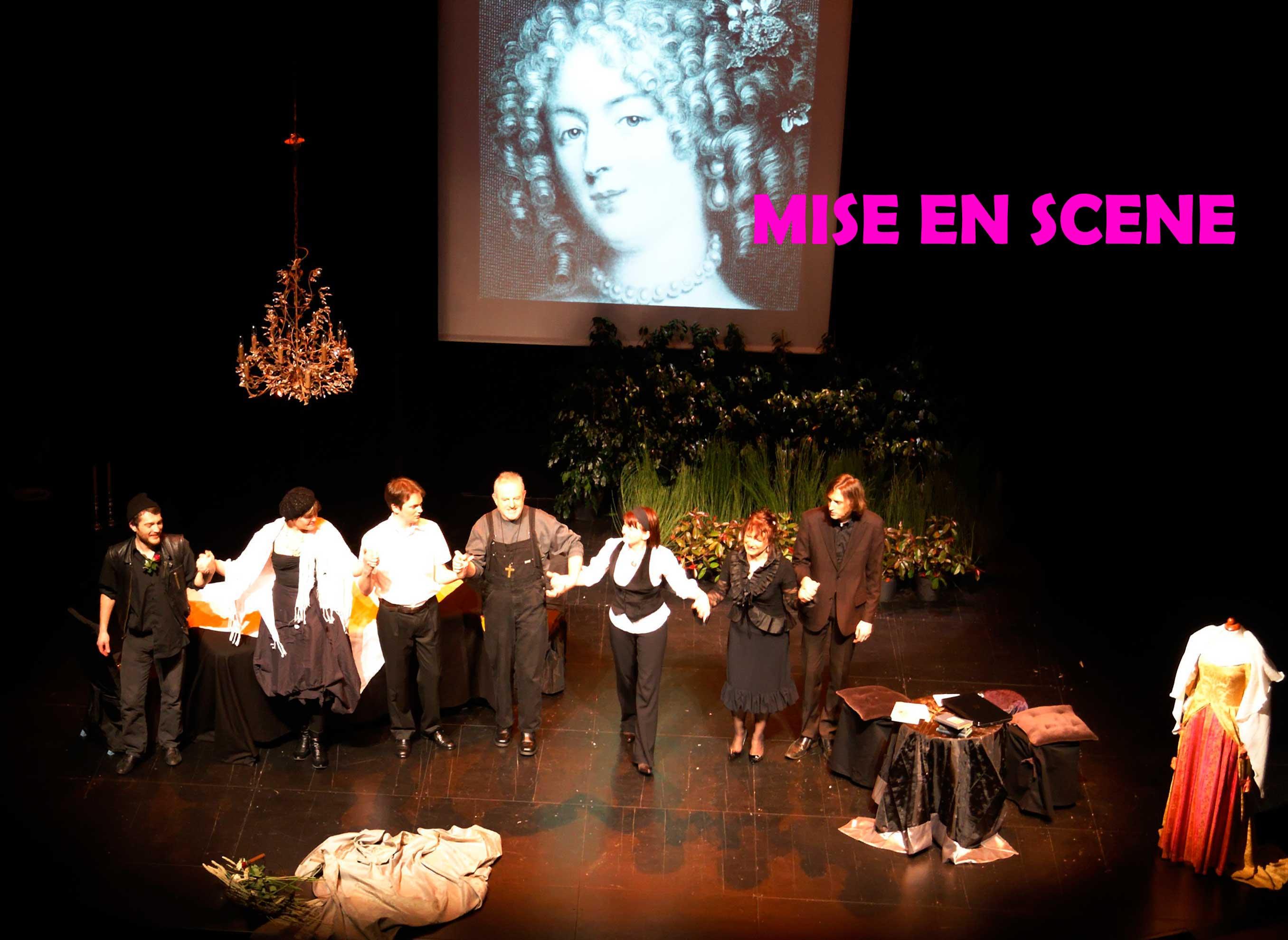 Mise en scène Segolene Chailley avec La comédienne Aline GROSSE-BATIOT et Jo GARDAN