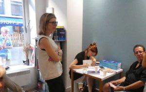 Segolene Chailley dédicace son roman La donneuse sans visage à Lyon L'horizon littéraire