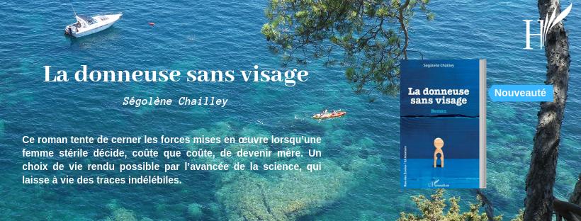 Bannière Roman La donneuse sans visage Segolene Chailley editions L'Harmattan
