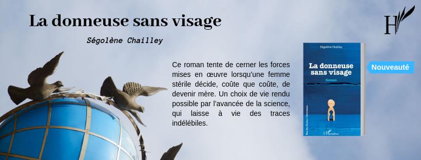 Roman PMA  La donneuse sans visage Segolene Chailley éditions L'Harmattan