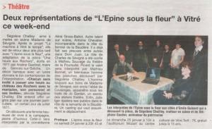 Article paru dans le journal Ouest France en 2009