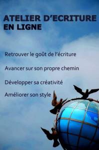 atelier d'écriture créative en ligne par ségolène Chailley